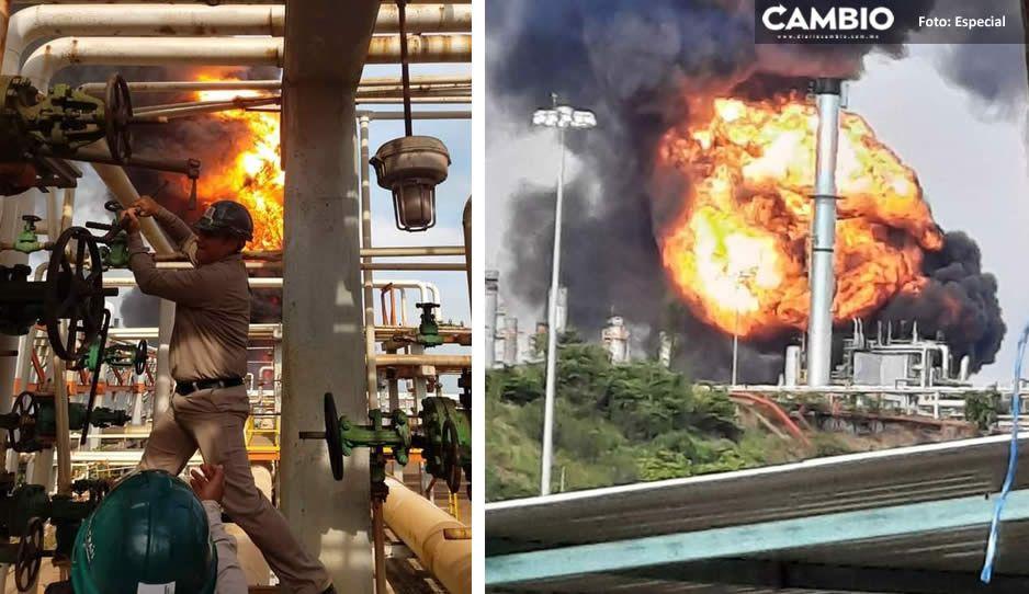 Videos impactantes: Se incendia refinería de Pemex en Minatitlán Veracruz