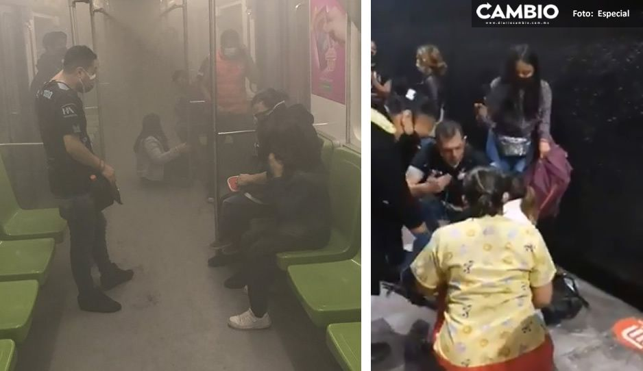 VIDEOS: Humo genera pánico entre usuarios de línea 3 del Metro en CDMX