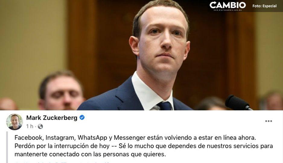 Mark Zuckerberg pide perdón a todos los facebookeros