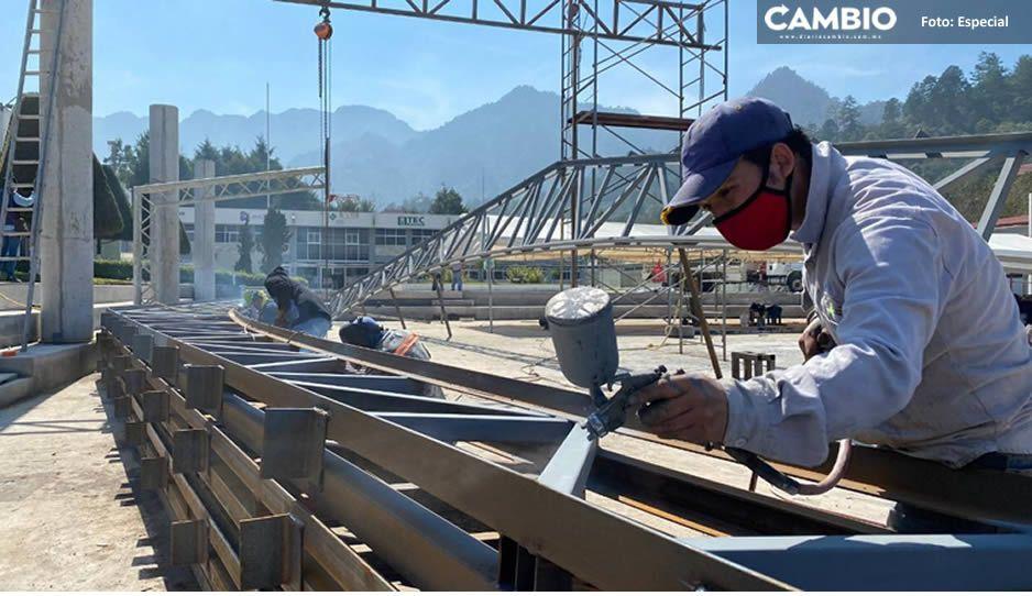 Carlos Peredo cumple promesa; Instituto Tecnológico de Teziutlán estrenará techado