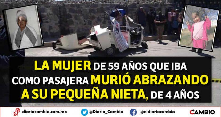 Doña Lupita abrazó a su nieta antes de estrellarse en el 'mototaxi de la muerte'; iban a un rosario