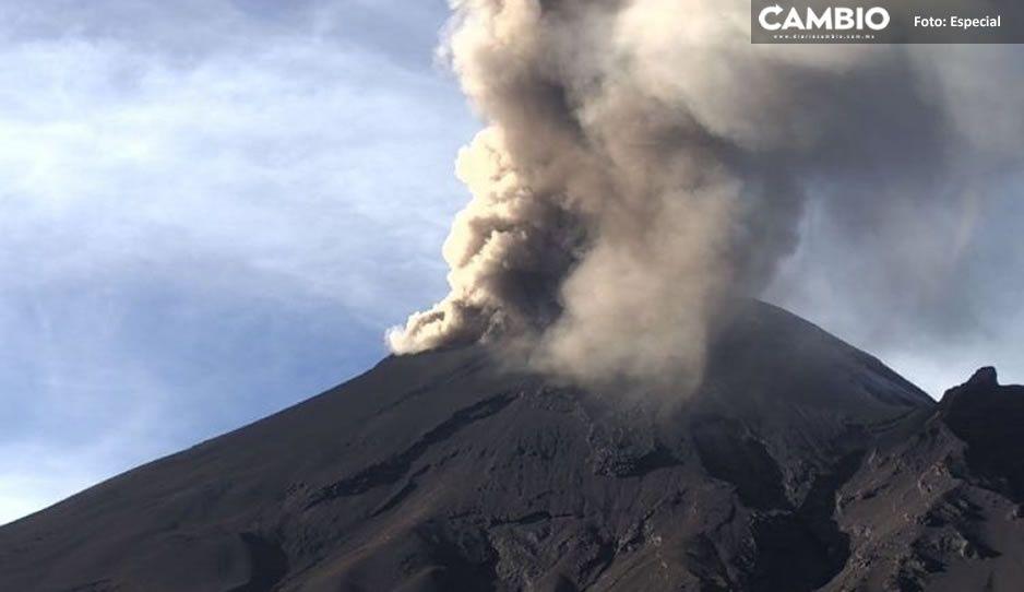 El Popo también quiere dar su Grito: registra explosión dejando inmensa columna de ceniza (VIDEO)