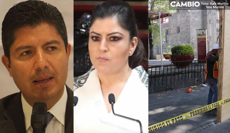 """Lalo Rivera acusa que Claudia dejó """"hecho un asco"""" el Centro Histórico de Puebla"""