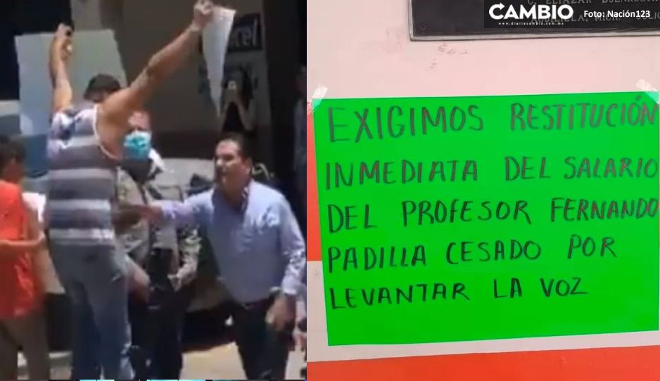Retienen pago a profesor golpeado por gobernador de Michoacán