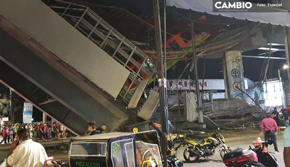 Circula VIDEO impactante del momento exacto del desplome de la Línea 12 del Metro en la CDMX