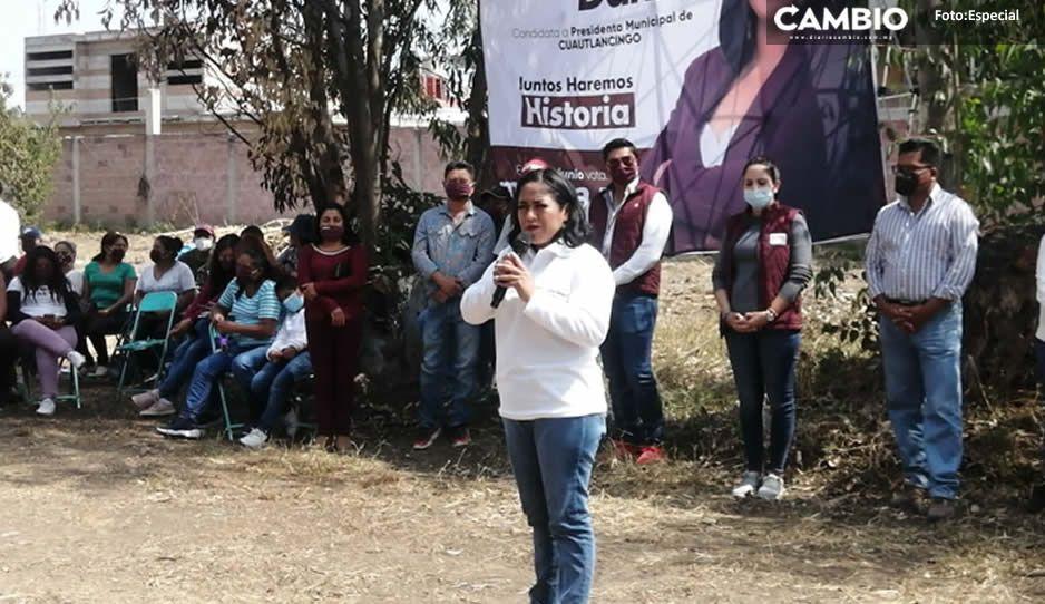 Trabajo y resultados ofrece Lupita Daniel en Cuautlancingo