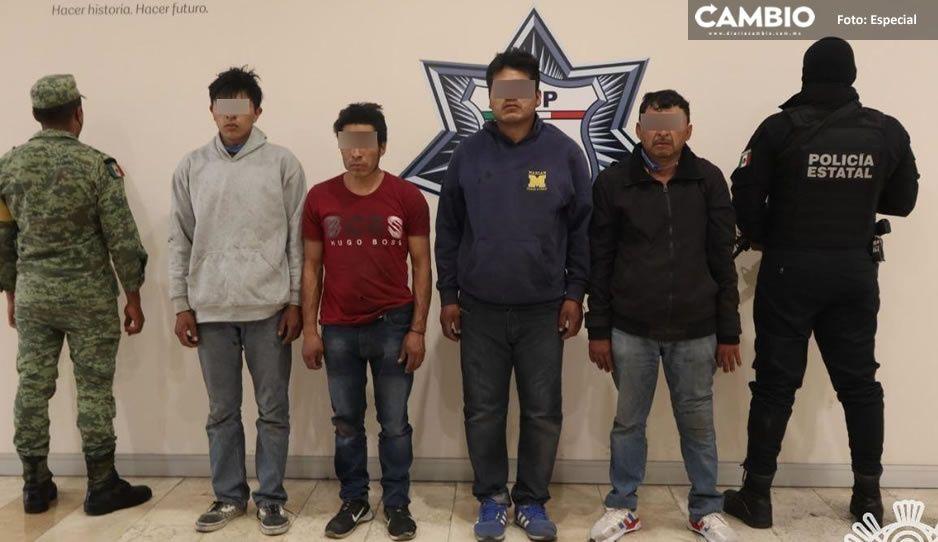 Tras balacera, capturan a cinco integrantes de banda criminal en Acajete