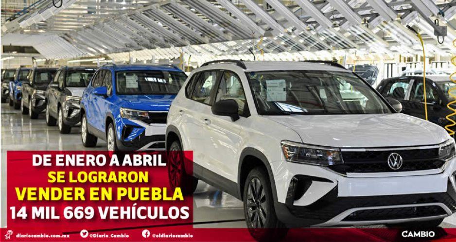 Puebla es el sexto estado con más autos vendidos en 2021, pero son 13 % menos que el año pasado