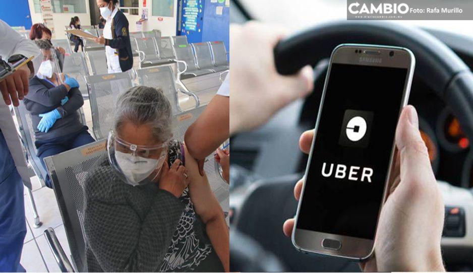 Uber se pone bello: dona 200 mil viajes a abuelitos para vacunarse con límite de 60 pesos