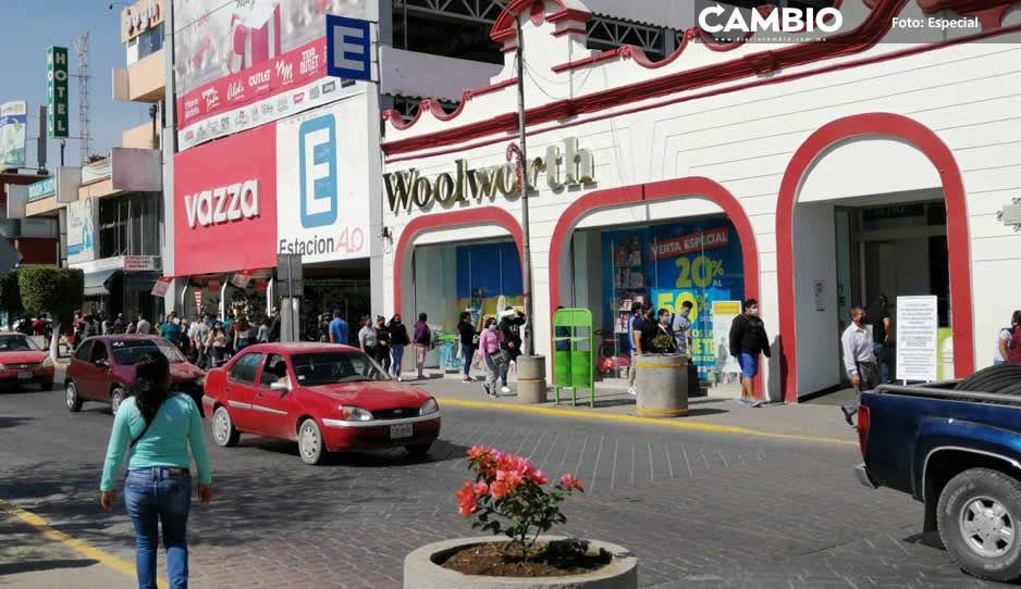Artemio Caballero quiere todos los negocios del centro de Tehuacán pintados de rojo Morena