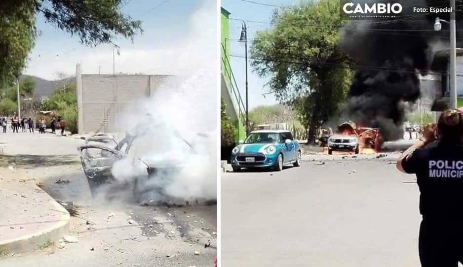 Explota camioneta con pirotecnia en plena procesión del Domingo de Ramos en Huitziltepec