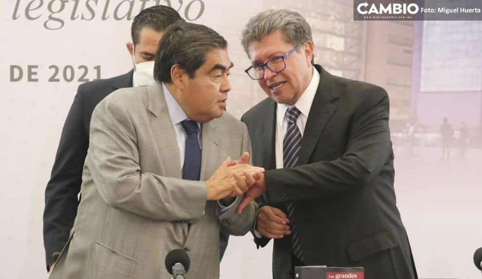 Hoy en Puebla hay un buen ambiente político: Barbosa agradece a Monreal elogios sobre su gobierno