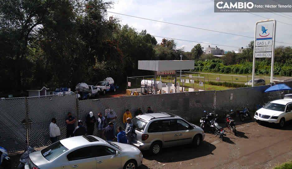 También trabajadores de Global Gas hacen paro en la empresa ubicada en la Texmelucan-Tlaxcala