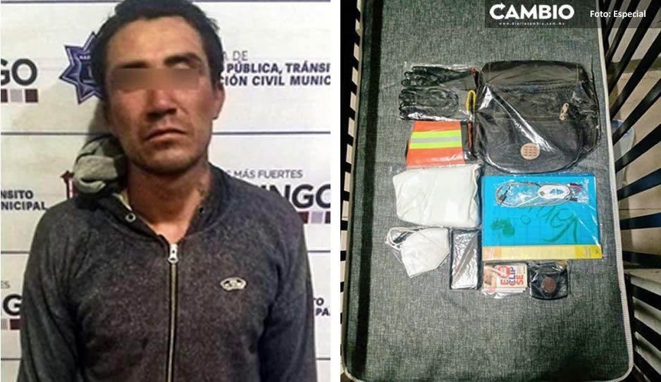 ¡Acosador! Capturan a ladrón que intentó abusar sexualmente de una mujer en Huejotzingo