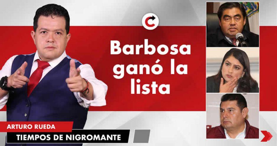 Barbosa ganó la lista