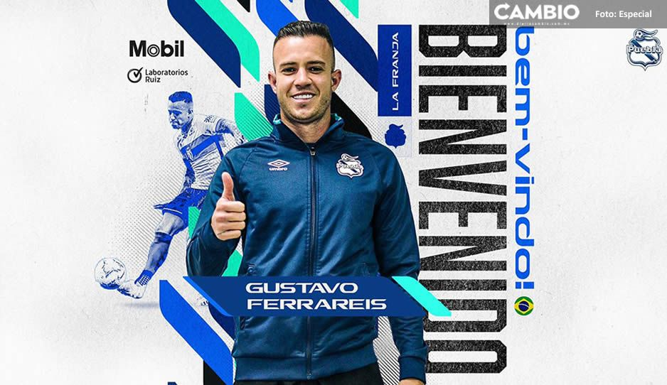 Llega último refuerzo al Club Puebla: el brasileño Gustavo Ferrareis