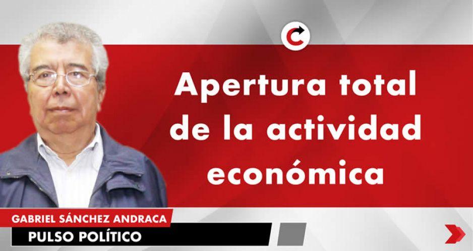 Apertura total de la actividad económica