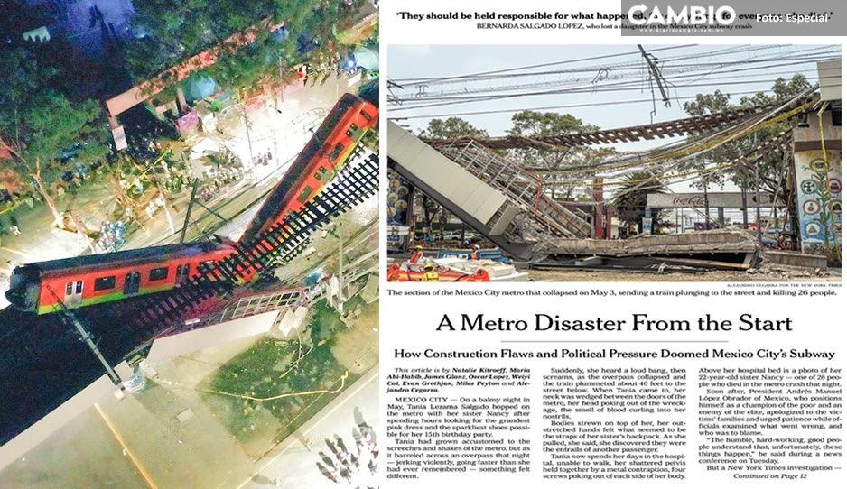 Fallas en soldadura de pernos causaron colapso de L12 del Metro: revela reportera de NYT