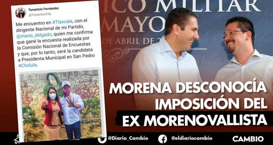 Tonantzin Fernández asegura que será la candidata en San Pedro: Mario Delgado reprobó a Lorenzini