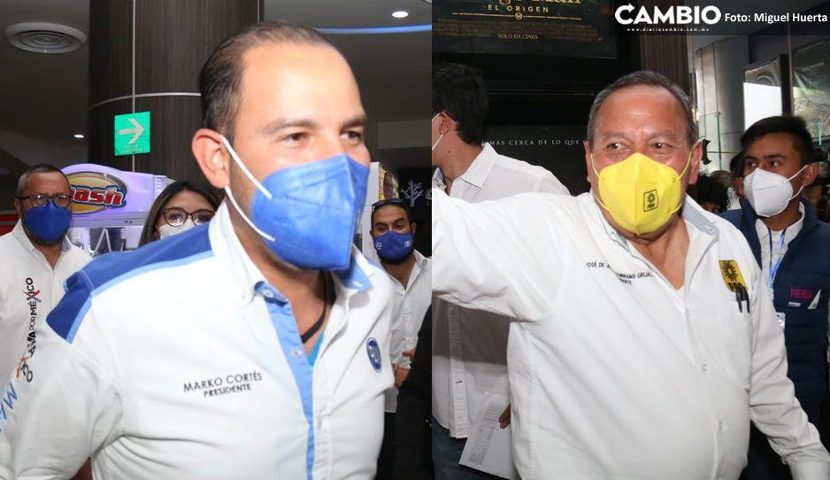 Marko y Zambrano llaman sinvergüenzas a los que buscan la reelección en Puebla (VIDEO)