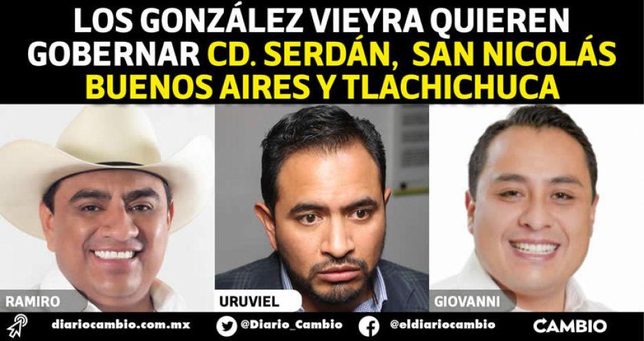 Familia de caciques: Uruviel y sus hermanos quieren apoderarse de tres municipios del Valle de Serdán