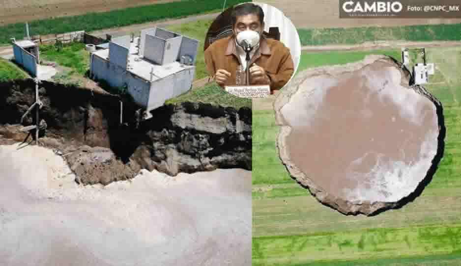 ¡Sí tendrá hogar! Gobierno de Puebla construirá vivienda para la familia afectada por el socavón