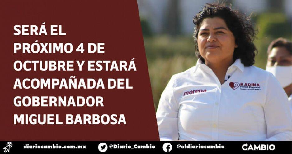 Karina Pérez rendirá último informe en Tlaxcalancingo para despedirse con los suyos