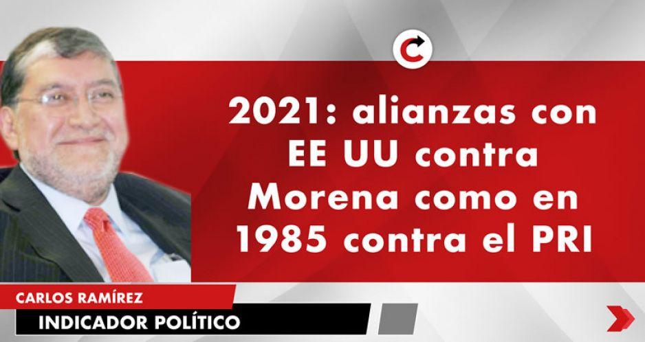 2021: alianzas con EE UU contra Morena como en 1985 contra el PRI