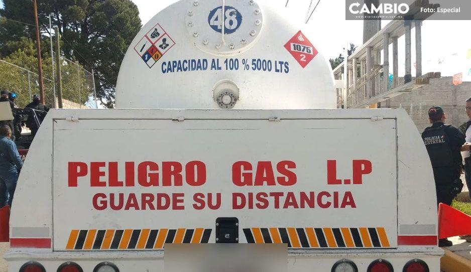 Cae banda de presuntos huachicoleros en Xonacatepec; aseguraron cuatro pipas de gas LP