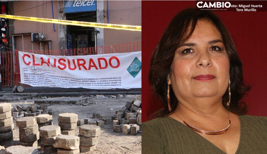 Clausura de obras en Centro Histórico fue porque carecían de permisos: Medio Ambiente