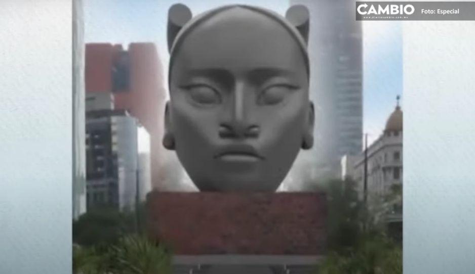 Sheinbaum adelanta que boceto de estatua de Tlali aún es preliminar