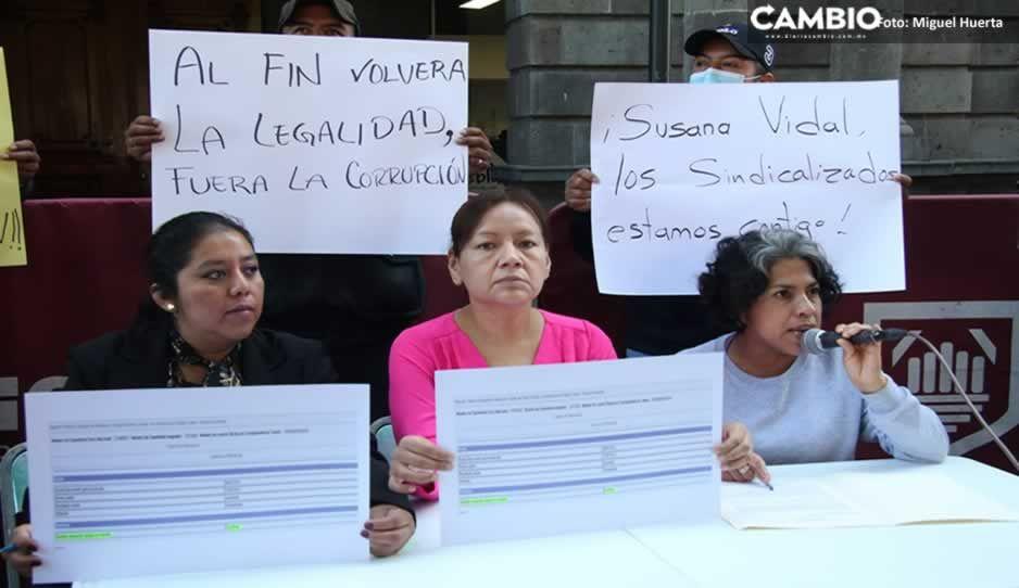 Piden a Lalo Rivera que reconozca a Susana Vidal como nueva líder sindical del Ayuntamiento (VIDEO)