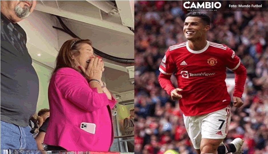 CR7 se estrena con el Manchester United y su mamá llora de alegría