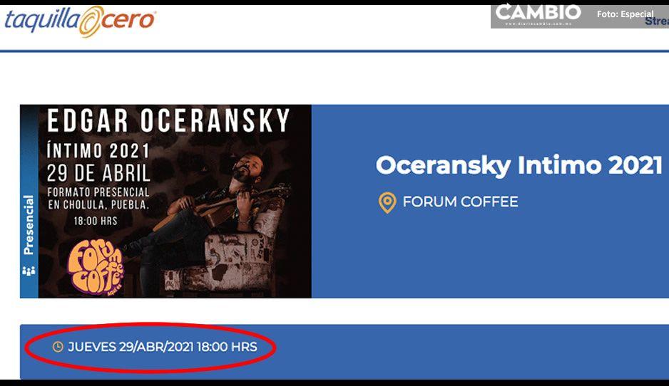 ¡Está prohibido! Edgar Oceransky desobedece el decreto; dará concierto en vivo en Puebla