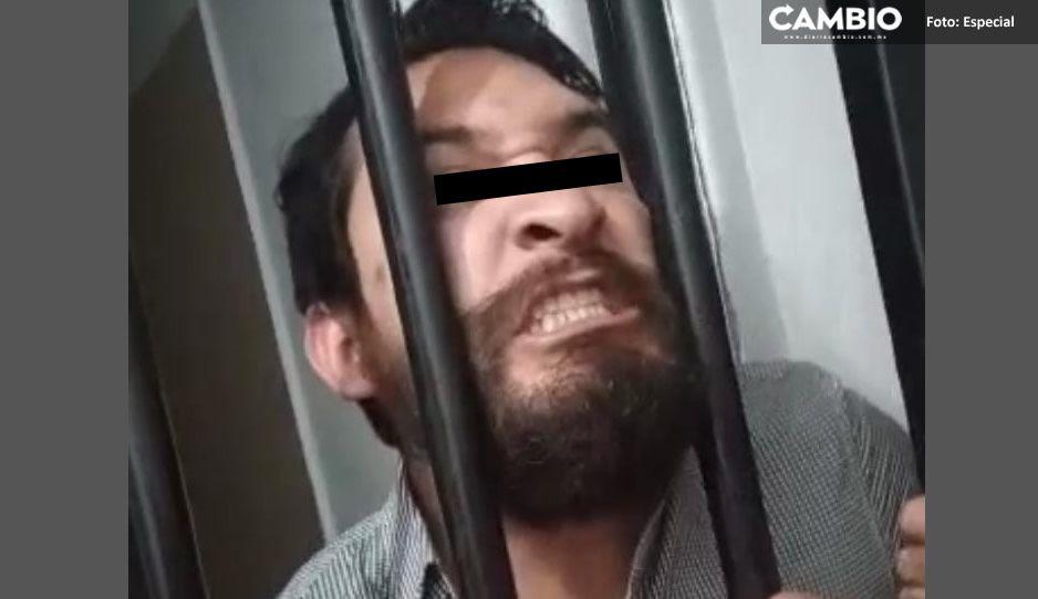 ¡Te voy a matar, los voy a matar a todos!, así fue la ira del ministerial en contra de policías de Teziutlán (VIDEO)