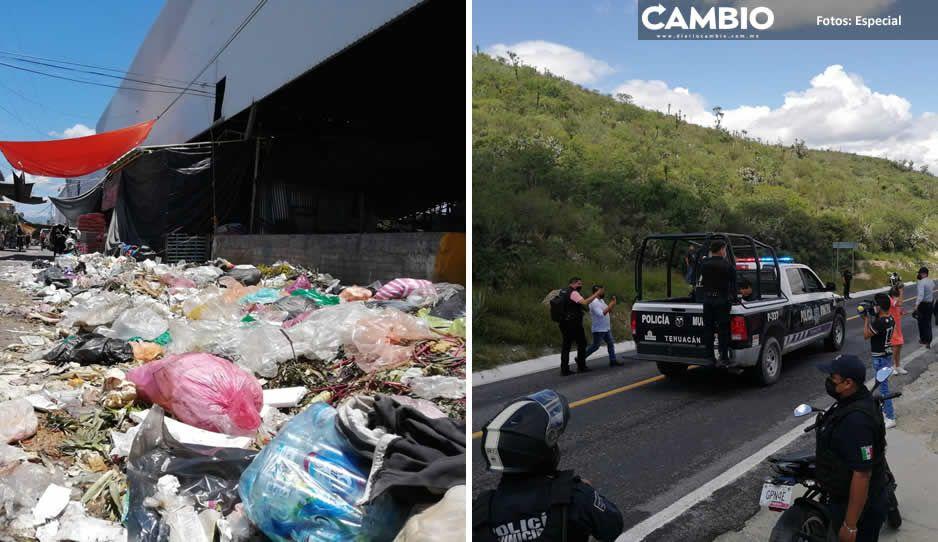Policías liberan el relleno sanitario de Tehuacán y detienen a 16 personas