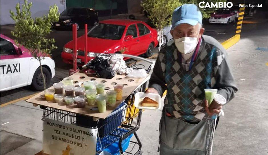 Abuelito vende postres para salvar a su nieto; pide ayuda para pagar operación (FOTOS)