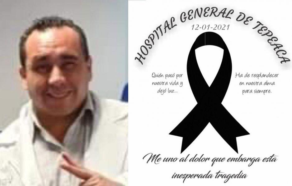 Otro héore de bata blanca que se lleva el virus: fallece director del Hospital General de Tepeaca