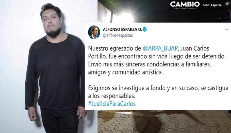 Exige Esparza esclarecer la muerte de Juan Carlos, estudiante BUAP que murió en separos de Xoxtla