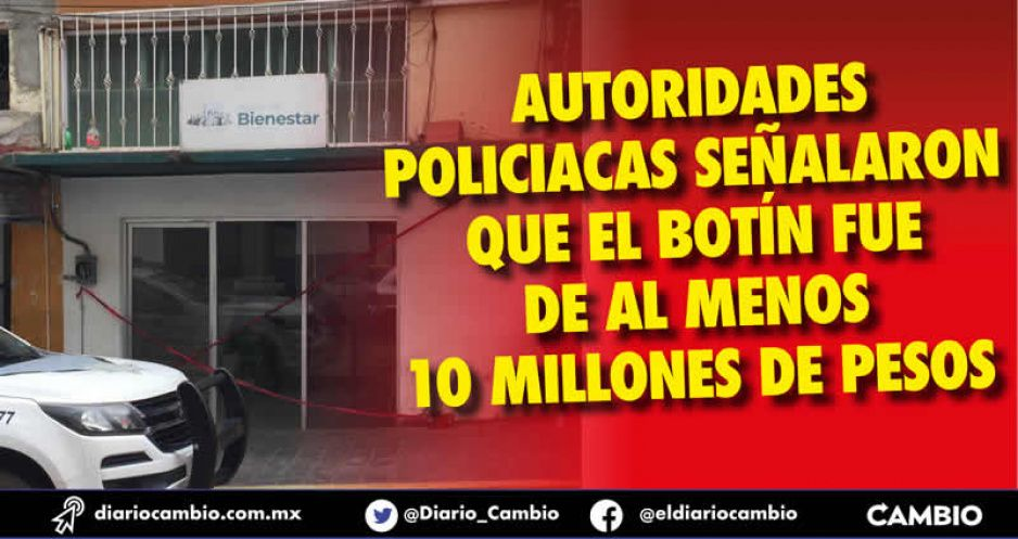 Ecoloco Vargas se despide con robo millonario al Banco del Bienestar