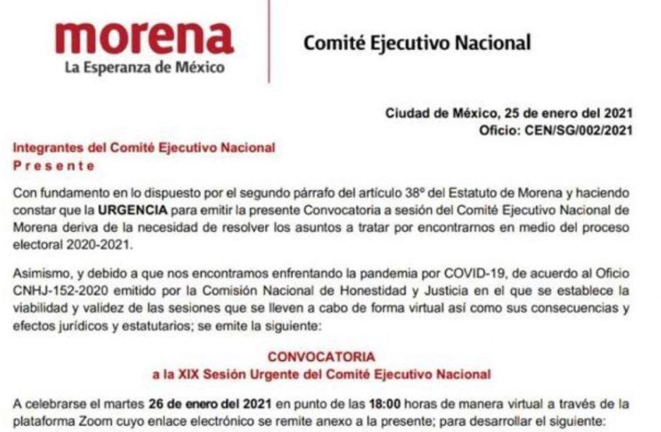Morena emitirá mañana convocatoria para renovación de diputados locales y alcaldes