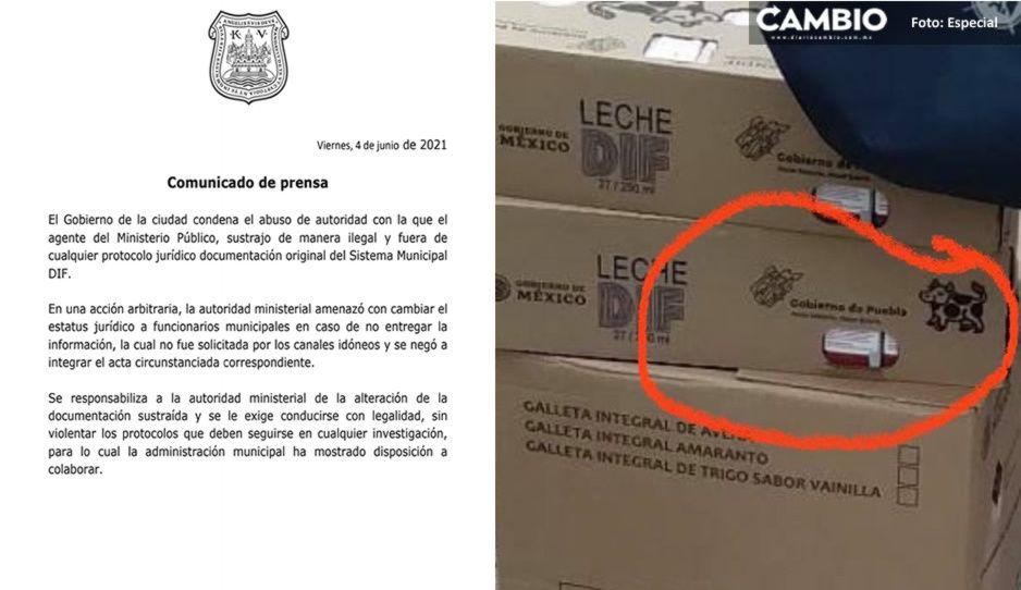 Ayuntamiento acusa a la Fiscalía de sustraer documentos del DIF de forma ilegal por el lechegate