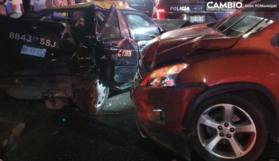 Brutal accidente entre dos automóviles sobre Bulevar Norte (VIDEO)