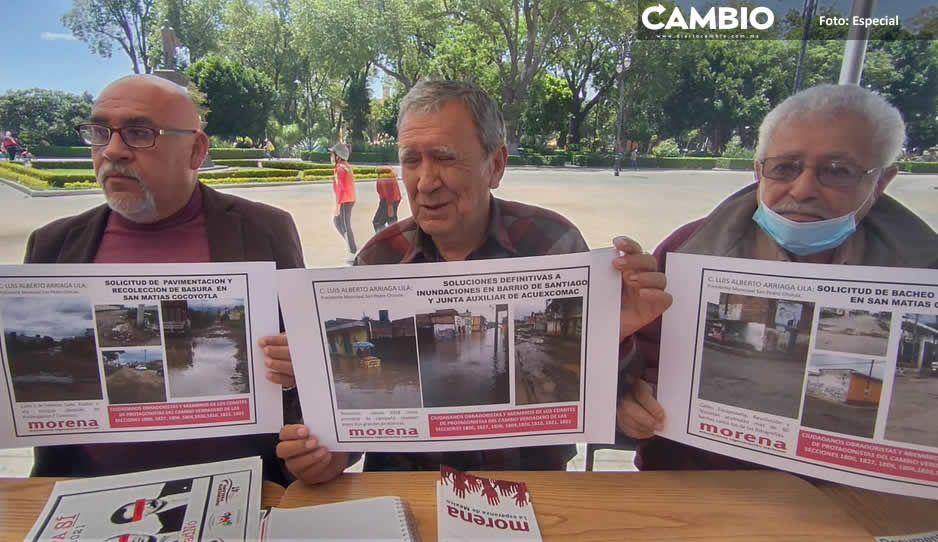 Fundadores de Morena en San Pedro Cholula exigen creación de dirigencias municipales