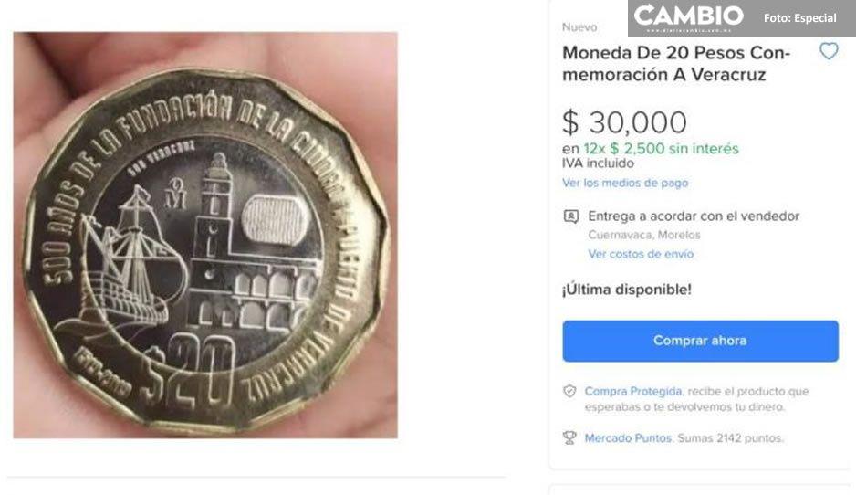 VIDEO: Esta es la moneda de 20 pesos que cuesta hasta 30 mil ¿tienes alguna?