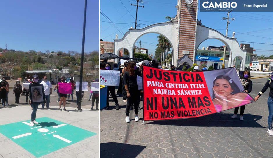 En Izúcar se manifiestan para exigir justicia por el feminicidio de Cinthia y dar con el culpable