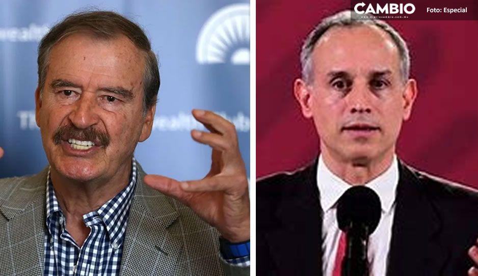 """Vicente Fox se lanza vs Gatell: Tiene COVID por """"irresponsable y engañador"""""""