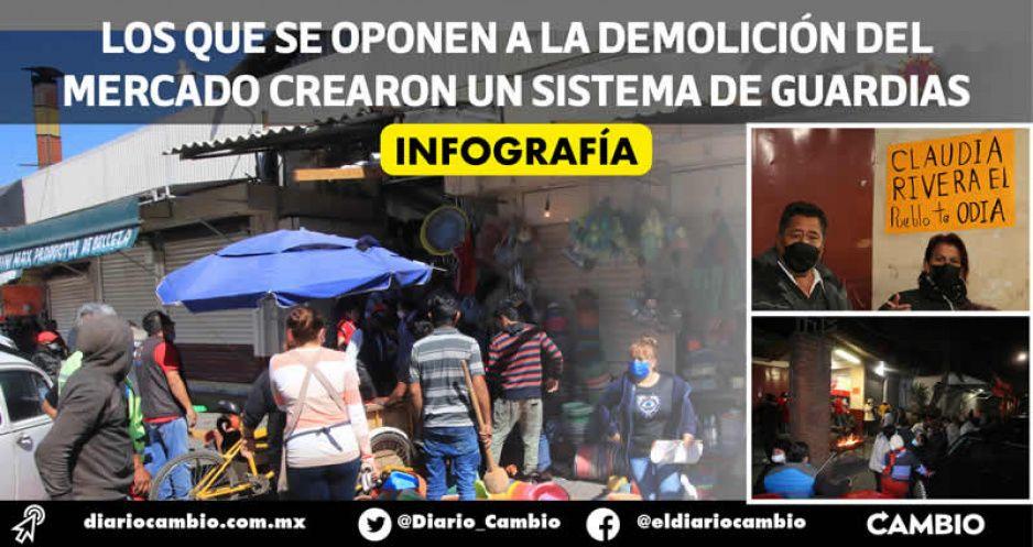 Crónica: 45 días de frío y resistencia por la defensa del mercado histórico de Amalucan (FOTOS)