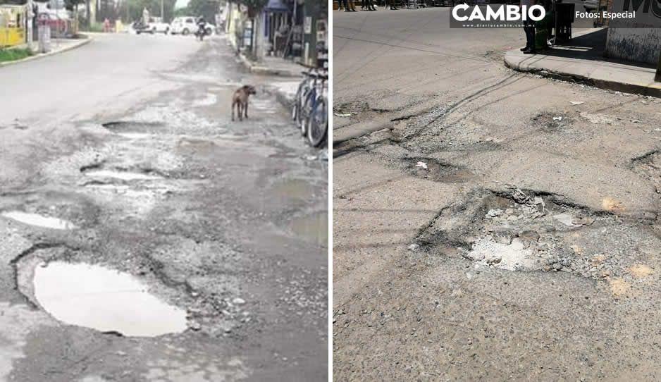 Luego de un año de desinterés, Ayuntamiento de Tehuacán arranca programa de bacheo