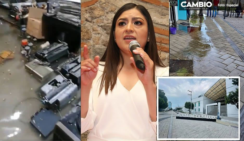 Obras malhechas de Claudia en Plaza de la Salud provocan inundaciones en casas y comercios aledaños (VIDEO)